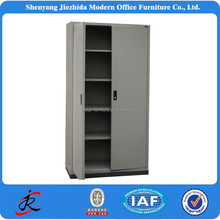 China high quality adjustable iron shelf metal locker swing out doors cheap 2 door office steel filing cabinet for sale