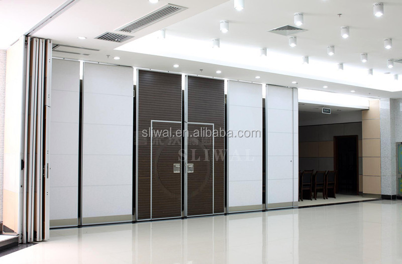 China aluminium sliding interior door movable sound proof for Commercial interior sliding doors