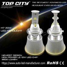 Best selling H7 20W led headlight bulb,3600LM high power car led headlight,led car headlight with 12 months warranty