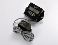 AC/DC Powered Engine Hour Meter Motor Monitor for Electric Dune Buggy Mobility Scooter Go Cart