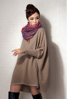 HFR-KW0605 wholesale fashion knitted sweater with fur knitting model free