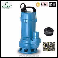 1HP Iron impeller electric water submersible sewage pump three phase price india