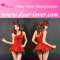 Fancy dress halloween costumes adult red devil one size