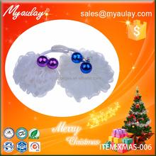 2015 christmas gift , gray mesh pouf bath sponge XMAS-006
