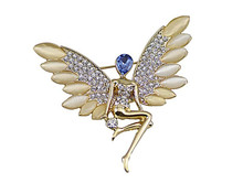 Elegent angel wings brooch, 2015 Wholesale new desigh cheap funny fashion bulk brooch,rhinestone brooches and pins bulk
