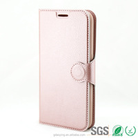 magnetic clasp wallet leather flip case with card slots for samsung galaxy s6