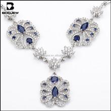 Latest fashion necklace, fine fashion jewelry, 925 sterling silver jewelry