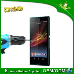 OTAO oil-repelling 9H top quality 0.2MM front tempered glass screen cover for SONY L36H