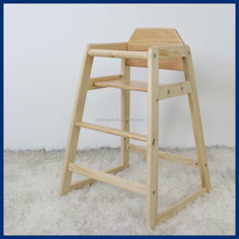 Pine wood frame indoor furniture baby dinning chair