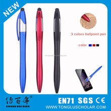 3 Color Ballpoint Pen With Stylus