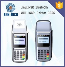 RFID smart card reader wireless handheld POS with GPRS and printer,bus payment/ticket terminal