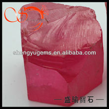 rough material pink cubic zircon