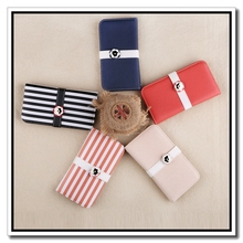 2015 Most Sought-after Pastoral Style Flower Button Design Stripe Mobile Phone Case For IPhone5/5S/5C/6/6 Plus/6S/6S Plus