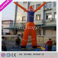 Funny cartoon design durable lead-free 6H small inflatable air dancer