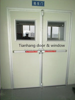 Fire exit door with panic exit device /push bar