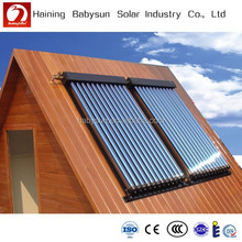 China high quality split pressurized heat pipe solar water heater system, vacuum tube solar collector
