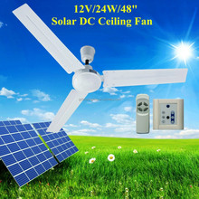 """48"""" 12V DC Ceiling Fan with Brushless DC Motor Operated by Battery"""