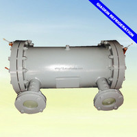 Industrial shell and tube type water cooled heat exchanger for chiller refrigeration