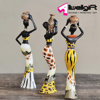 home decoration gift Polyresin Africa Lady interior decoration craft