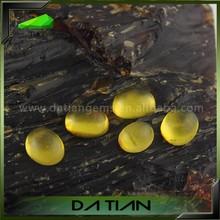 stone semi-precious gemstone stone oval flat cabochon yellow natural picture agate