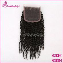 Shandong Qingdao Hair Factory Natural Color Cheap Free/Middle/Three Part Peruvian Virgin Hair Lace Closure