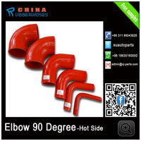 "2.0"" -2.5 inch Red Silicone Hose 90 Degree Coupler 64mm Elbow Silicon Coupling"