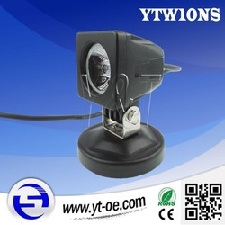 Y&T Original designing off road 10W led light for motorcycle with pure aluminum housing
