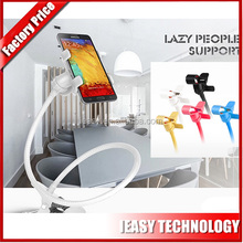 Hot selling 360 degree rotating Lazy pod with clip holder for iphone and for ipad/tablet,,many colors available!