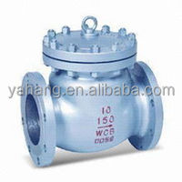 Industry used carbon steel double flange end metal seated swing check valve