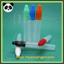 custom pe e liquid bottle long drip bottle pen shape 15ml 30ml dropper bottle