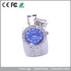 New design product! beautiful crystal pocket watch crystal usb flash drive,bulk cheap price with free sample