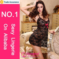 Hot sell items sheer lace babydoll one size european size exclusive lingerie