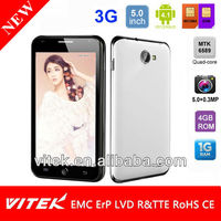 China supplier 5'' android 3G video chat mobile phone