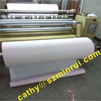Matte/glossy surface self adhesive destructible vinyl jumpo rolls 1070MMX400M,non removable adhsisve stickers paper