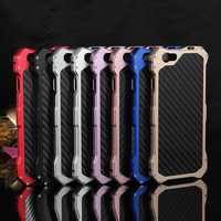 Aluminum Metal Bumper Frame Skin Case Carbon Fiber Cover For iPhone 6 S / 6 PLUS