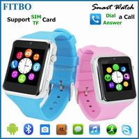For Iphone/Samsung Galaxy S4 S5 S6 , 4Colors micro sim card watch phone for Boys&Girls