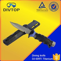 Titanium ABS Handle Sharp Serrated Global Tactical Knife Set