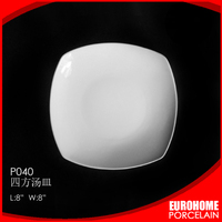 Pass SGS professional factory low price cheap ceramic square plates