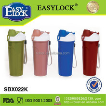 Popular promotion back to school plastic protein shaker bottle
