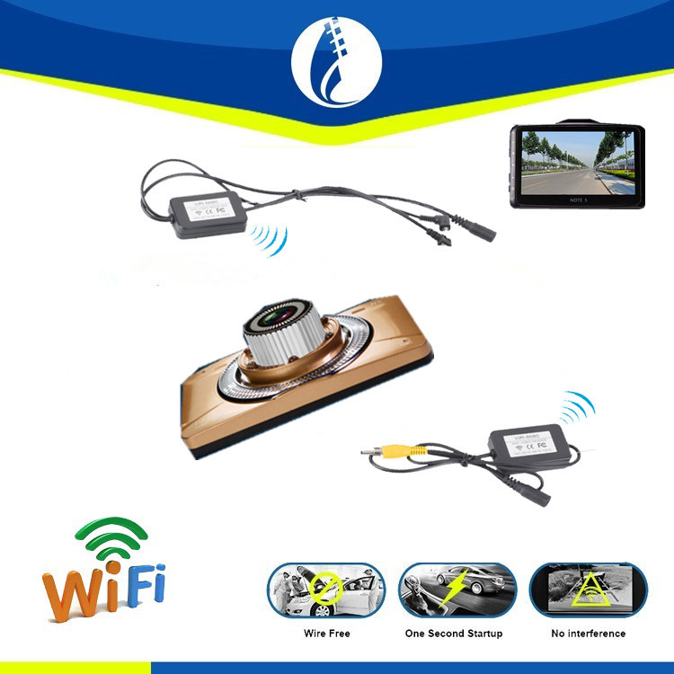 no interference wireless wifi 5 0 inch monitor with car dvr rearview dual camera parking sensor. Black Bedroom Furniture Sets. Home Design Ideas