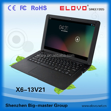 hot ! hot ! hot ! ultra slim bluetooth laptop computer 13inch dual core Android4.2 laptop VIA WM8880 factory price 13inch laptop