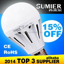 perfect lightness superior quality plastic led bulbs 7w