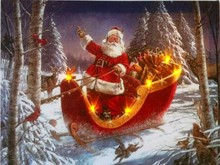 CE Certified! 2015 lastest santa claus painting with led lights christmas for holiday gift cheap china factory wholesale