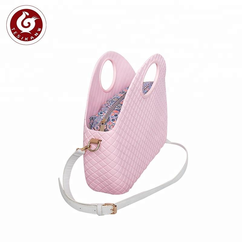 La migliore vendita impermeabile logo personalizzato EVA sacchetto di spalla lato o borsa per le donne