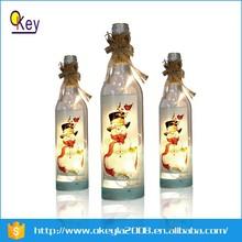 LED 750ml clear glass champagne bottle light