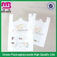 supply free sample 100% biodegradable t shirt plastic bag manufacturers