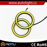 HOT Blue COB LED Angel Eyes Halo Rings led Car Daytime Running Light