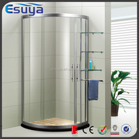 New design round tempered glass complete enclosed simple shower room with frame