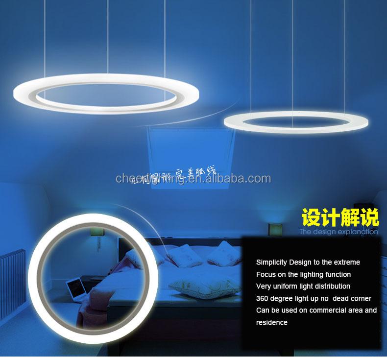 moderni in alluminio acrilico e led cerchio anello lampada a ...