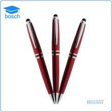 Cheapest writing promotional metal touch ball pen with logo printing